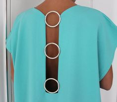 Let me present you the newest model of the SPRING SUMMER 2015 collection - Backless MInt dress with 3 silver rings on the back . You can wear