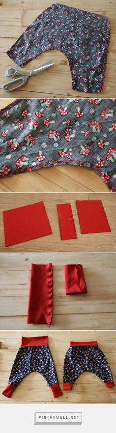 Tutorial and pattern of the evolutionary harem pants for baby – Tiny Infinity … – a grouped images picture – Pin Them All - Sewing Baby Clothes, Cool Baby Clothes, Crochet Baby Clothes, Baby Sewing, Diy Clothes, Sewing Diy, Baby Couture, Couture Sewing, Knitting For Charity