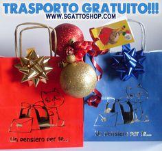In questi giorni il trasporto è GRATIS! Zampetta subito a trovarci www.sgattoshop.com