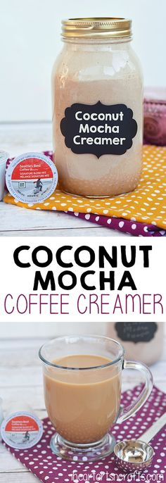 Homemade Coconut Mocha Coffee Creamer..This stuff is AMAZING and so easy to make! #ad #SeattlesBestCoffee #BreakfastBlend