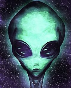 alien, green, and space image Aliens And Ufos, Ancient Aliens, Psychedelic Art, Psychedelic Tattoos, Alien Aesthetic, Alien Drawings, Grey Alien, Psy Art, Alien Creatures