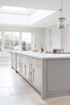 The main sink run is on the island which acts as the main prep area and is paral… Kitchen Interior, Home Decor Kitchen, Kitchen Flooring, Kitchen Remodel, Open Plan Kitchen Living Room, New Kitchen, Home Kitchens, Kitchen Renovation, Kitchen Design