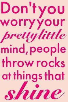 People throw rocks