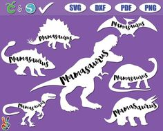 10 Mamasaurus Svg Images Card Making Stickers Svg Iron On Fabric