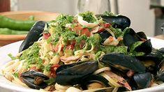 Green Harrisa & Seafood Pasta