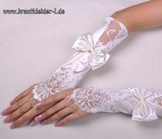 Brauthandschuh Isabella in Weiß