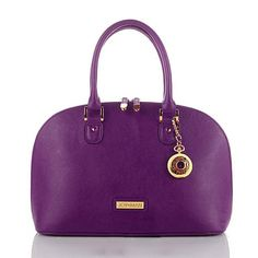 Joy & IMAN 22-Section Genuine Leather Handbag & Watch (I gotta say... Might be the only girl with a PURPLE handbag)