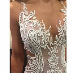 @oglialorocouture - A closer look..#handbeaded #couture #glam #white #embellishment - #regrann
