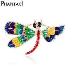 New Enamel Cute Dragonfly Brooch