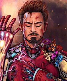 "Iron Man"" - Tony Stark / We love you 3000 / Avengers: Endgame / Iron Man Fan Art Marvel Avengers, Marvel Comics, Marvel Fanart, Marvel Heroes, Captain Marvel, Captain America, Stony Avengers, Avengers Fan Art, Iron Man Kunst"