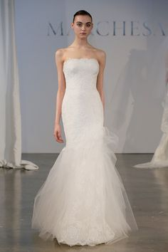 A model walks the runway during the Marchesa 2014 Bridal Spring/Summer collection show at Canoe Studios on April 19, 2013 in New York City.