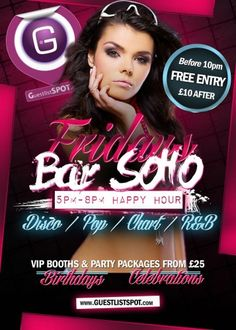 Fridays at Bar Soho at Bar Soho on Friday, 9th January 2015. Events in bars and nightclubs in London - GuestlistSPOT.com.