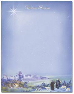 Wonderous Lights — Holiday Stationery — 8 1/2″ x 11″ — 80 Sheets ...