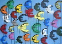"Saatchi Art Artist Astrid Stoeppel; Painting, ""Euro signs!"" #art"