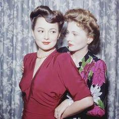 Olivia de Haviland and sister Joan Fontaine