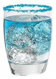 Blue Diablo  Ingredients:  - 1/2 oz (1.5 cl) tequila  - 1/4 oz (3/4 cl) blue curacao  - juice of half lime  - 1 tsp (5 ml) lemon juice  - carbonated water
