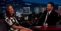 Gal Gadot Asks Jimmy Kimmel About Wonder Woman Breasts Gal Gadot, Interview, Breast, Wonder Woman, Celebrities, Celebrity Women, Pictures, Photos, Celebs