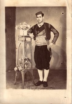 #Croatian #traditional #dress: loose trousers and a shirt, usually either black or white, or both.