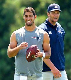 Tom Brady and Jimmy Garopolo. 08/16