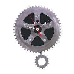 jewelry making bike parts | bicycle parts rubber clock this is made out of recycled bike parts ...