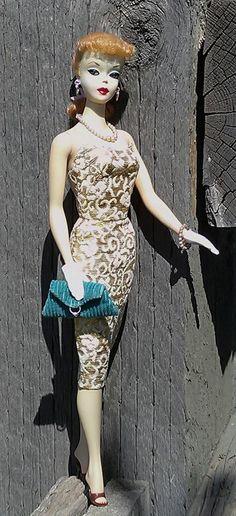 1959 Barbie Golden Girl #911 (worn with Evening Splendor #961)