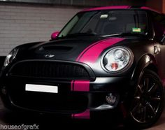 black mini cooper with graphics - Google Search