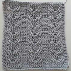 The third square in the Crochet Cables series. Double Cables. This is Part 4, rows 5 to finishing. Play list here: https://www.youtube.com/playlist?list=PLKb...