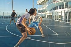 Have you ever shot hoops at sea? #basketball #cruising #AllureoftheSeas