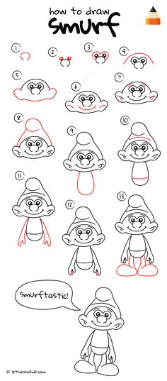 How To Draw Smurf
