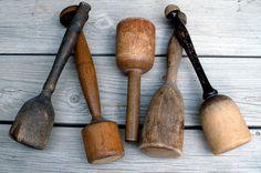 Vintage Wooden Potato Mashers