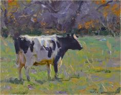 Available from the Studio - Autumn Cow Wildlife Paintings, Wildlife Art, Animal Paintings, Animal Drawings, Cow Painting, Artist Painting, Painting & Drawing, Australian Painting, Cow Pictures