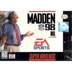 Madden NFL 98 for SNES  I had this game!!   Old school mofo!