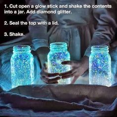 DIY Light Jars for camping or sleepovers