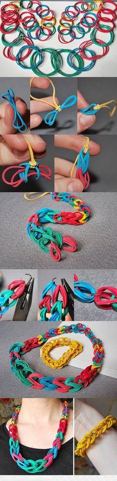 ideas diy bracelets for men rainbow loom for 2019 Rainbow Loom Patterns, Diy Collier, Armband Diy, Rubber Band Bracelet, Do It Yourself Fashion, Loom Bands, Diy Necklace, Diy Bracelet, Bracelet Tutorial
