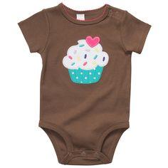 Cupcake Onesie baby bodysuit snaps sotton sweet adorable newborn clothes $6