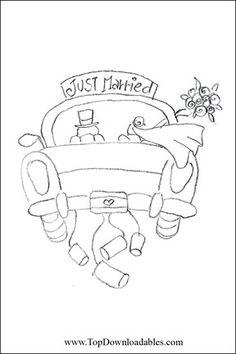 hochzeit auto just married Auto ber weiem Hintergrund  Basteln  Pinterest