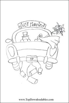 Just Married Coloring Page                                                                                                                                                     More