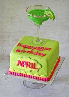 21st Birthday Margarita Cake | http://rosebakes.com/21st-birthday-margarita-cake/ #cake #margarita #lime