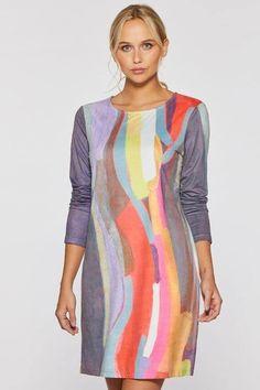 Mood Swing Faux Suede Dress by Claire Desjardins. #clairedesjardins #clairedesjardinsart #ClaireDesjardinsApparel #DesignerJacket #JeanJacket #cami #WomensApparel #WearableArt #designerclothing #apparel #designerapparel #artandfashion #fashionandclothing #artonclothing #abstractart #abstractpainting #designerclothes #womensapparel #Tunic #Dress #Jacket #MotoJacket #WomensTop #Dress