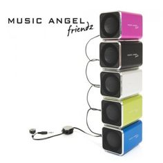 Music Angel Friendz Speaker - Tragbarer Mini Stereo Lautsprecher bei www. Ipod, Samsung, Mini, Slipcovers, Ipods
