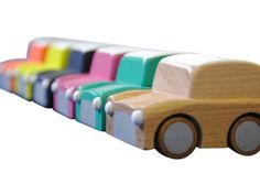 Race. Stop. Vroom. Go. Toot Toot. Play.    Kuruma is Japanese for Car.    These colourful jalopies promise hours of pure fun. Available in 5 colours plus natural beech.