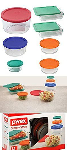 Pyrex Glass Lunch Containers. Pyrex 14 Piece Food Storage Containers Glass Round And Rectangle Set With Colored Lids. Use For Storage Food , Baking Dish, And Lunch Box.  #pyrex #glass #lunch #containers #pyrexglass #glasslunch #lunchcontainers