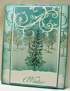 Baroque Winter Trees by Zindorf - Cards and Paper Crafts at Splitcoaststampers