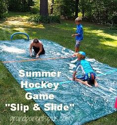 game summer hockey slipnslide kids, outdoor living