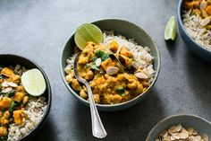"Sweet Potato, Chickpea & Spinach Coconut Curry from ""Oh She Glows Every Day"""
