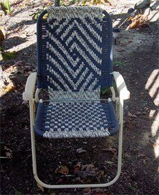 Macrome chair, I've haven't seen this design or UV type of cord.