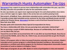 Extended warranty according to Warrantech is one method of protecting your investment that you have made for any high end product such as a vehicle or electronics which may demand repair and replacement of parts in the long run. It's kind of like a health insurance for your product as you pay in advance for any future repairs and problems that may arise in the vehicle. Thus one is saved from the pain of shelling out a large sum of money for repairs and maintenance at a later stage.