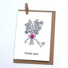 'Thank You!' Button Box Card - thank you cards