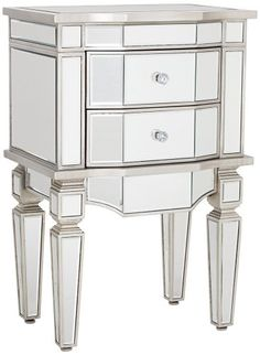wilton mirrored 2drawer accent table universal lighting and decorhttp - Mirrored Dresser Cheap