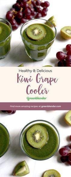Kiwi Grape Cooler on Green Blender